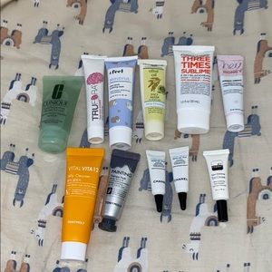 lot of misc skin care
